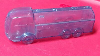 Gasoline ESSO Motor Oil Tanker Truck Coin Plastic Bank Gas Station Promo Gray