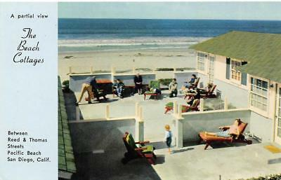 Awesome The Beach Cottages Pacific Beach San Diego Ca Roadside C1950S Vintage Postcard Download Free Architecture Designs Itiscsunscenecom