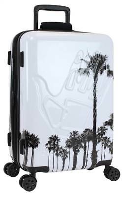 Hardside Luggage in White and Palm Trees [ID 3760385]
