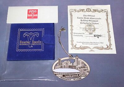 Collectible Indianapolis Indiana 2007 RCA Dome 24k Gold on Brass Ornament