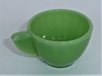 Akro Agate Small Interior Panel Green Luster Cup ~ Child Tea Set