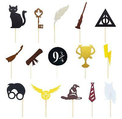 Harry Potter Cupcake toppers Decoration 15pcs or 30pcs AU Stock Fast Delivery