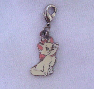 Disney Parks MARIE ARISTOCATS Kitty Cat Enamel Charm Metal Claw Clasp Clip On
