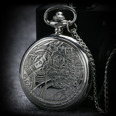 Hot Sale Doctor Who Theme Quartz Pocket Watch Luxury Sliver Best Gifts