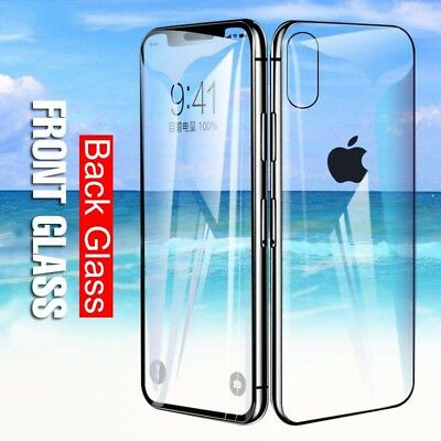 For Apple IPhone XR XS MAX Full Body Front+Back Tempered Glass Screen Protector