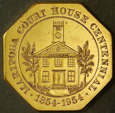 Hk 704 About Uncirculated So-Called Dollar Mariposa Court House – 1954