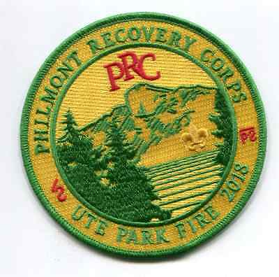 Patch From Philmont Scout Ranch -2018- Recovery Corps- Ute Fire