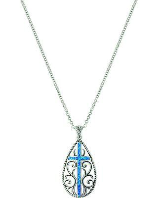 Montana Silversmiths Women's Filigree Water Lights Cross Necklace  No Color