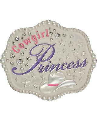 Montana Silversmiths Kids' Cowgirl Princess Attitude Belt Buckle Silver One Size