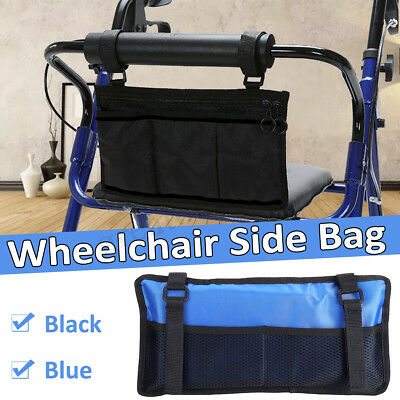Stroller Wheelchair Walker Electric Scooter Bag Travel Carry Pouch Armrest Side