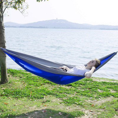 Nylon Single Hammock for Camping Backpacking, Lightweight and Portable NEW US
