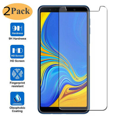 2x For Samsung Galaxy A7 (2018) Premium 9H Tempered Glass Screen Protector Cover