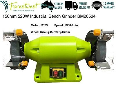 "150mm 520W Bench Grinder 6"" 0.7hp Sharpener Industrial Level Grinding Machine"