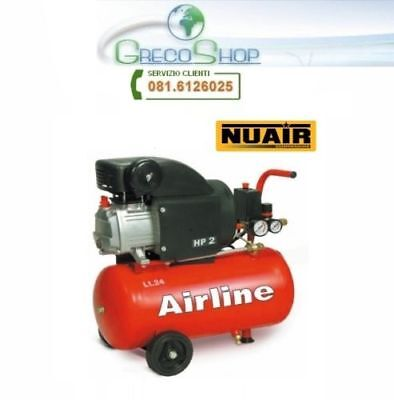 Compressore 24lt. ad olio NUAIR by ABAC - Airline