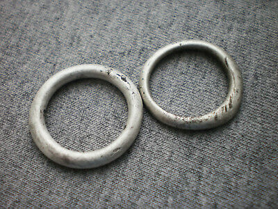 Extremely Rare Ancient Celtic Silver Proto Money Rings 2 pcs.