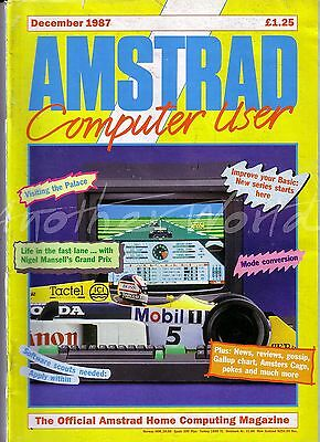 Amstrad Computer User / ACU Magazine - December 1987 - Good Condition - Bagged