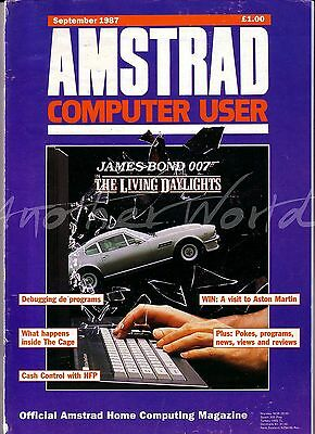 Amstrad Computer User / ACU Magazine - September 1987 - Good Condition - Bagged