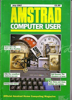 Amstrad Computer User / ACU Magazine - July 1987 - Good Condition - Bagged