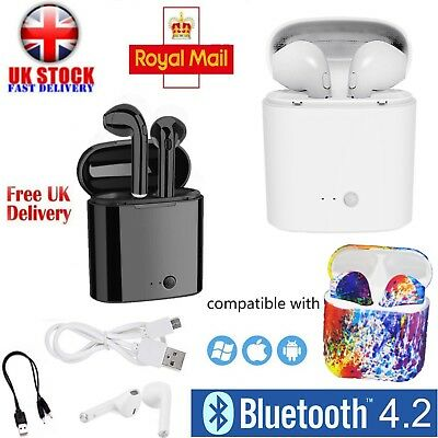 Wireless Ear Pods Pair 2in1 Bluetooth Earphones Headphone Mic for IPhone Samsung