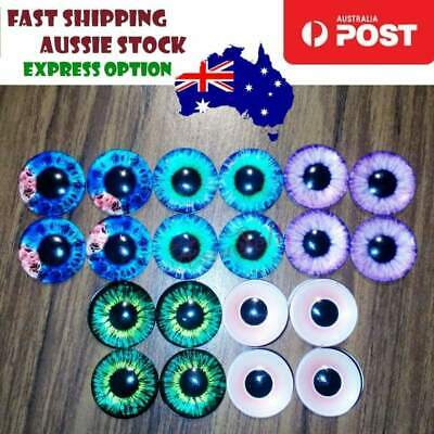 20pcs 16mm Dinosaur Time Gem Eyeballs Glass Dolls Eyes Eye Balls Crafts DIY