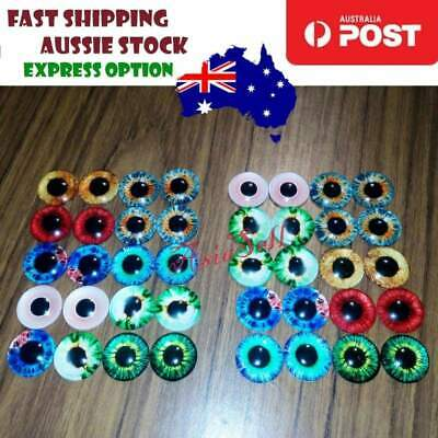 20pcs 20mm Dinosaur Time Gem Eyeballs Eye Balls Glass Dolls Eyes Craft DIY