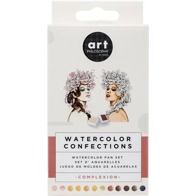 Prima Marketing Watercolor Confections Watercolor Pans 12/Pk - COMPLEXION