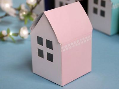 """100 4x2.5"""" Pink House WEDDING FAVOR BOXES Party Gift Decorations Wholesale"""