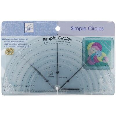 June Tailor Simple Circles Rotary Cutting Rulers-6/pkg