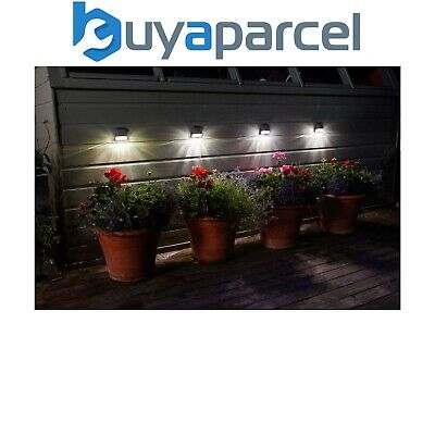 4 x Smart Garden Super Bright Solar Welcome & Security Wall Fence Post Lights
