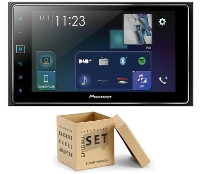 Pioneer SPHDA130DAB Set Radio DAB Antenne für Jeep Grand Cherokee (WH Facelift)