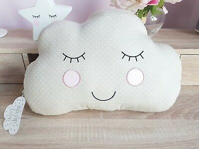 Sass & Belle Grey and White Cloud Cushion Nursery Kids Clouds