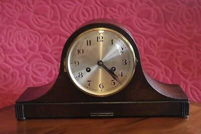 Vintage German 8-Day Striking Mantel Clock