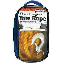 Streetwize Tow Rope - Yellow 2 Tonne
