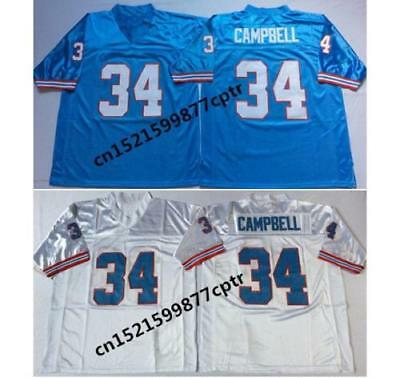 b84b2237f 34 Earl Campbell Mens Embroidered Throwback Football Jersey Size M XXXL -in  Am