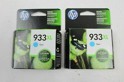 Lot of 2 New HP 933XL Ink Cartridges For OfficeJet 6100,6600,6700,7110,7610,7612