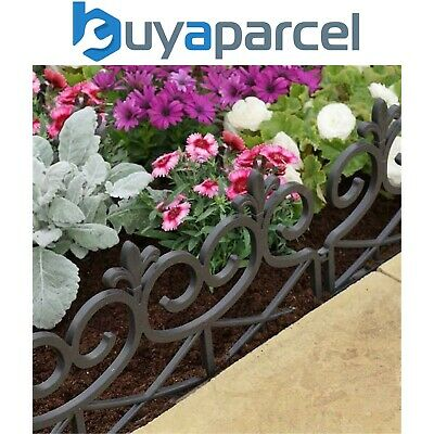 4 x Smart Garden Scroll Decorative Fence Path Border Lawn Plant Beds Edging