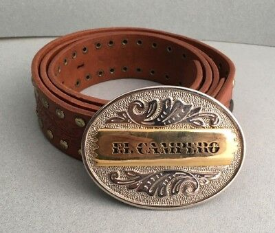 """el Campero"" Cintura Fibbia Belt Vintage Moda Originale Anni 80 Made In Italy"