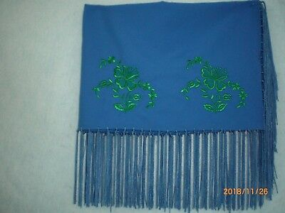 Dance Shawl, Tiny Tot, Hand Tied, Embroidered, Oklahoma Style             s101