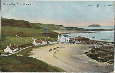 NORTH BERWICK Canty Bay East Lothian SCOTLAND Vintage Colour PC 1907