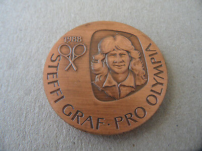 Steffi Graf pro Olympia 1988  Medaille