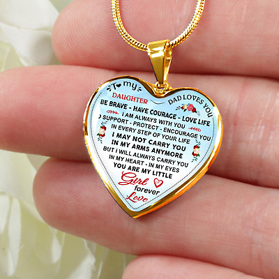 Dad And Daughter Gift - To My Daughter Novelty Luxury Necklace From Daddy Father