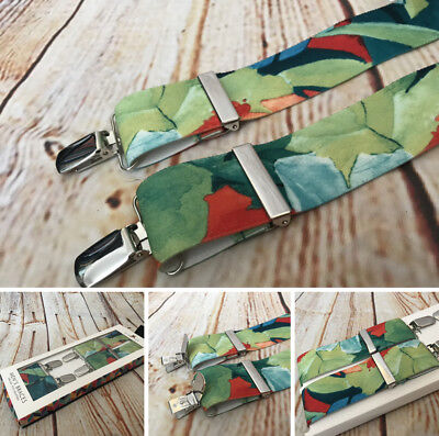 St.George Braces, 35mm,One Size, Fully Adjustable,Tropical Design, UK made, BNWT