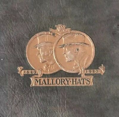 Mallory Hats A Century of Hats 1823 to 1923 Booklet