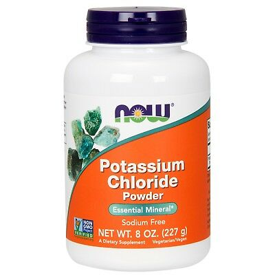 NOW Foods Potassium Chloride Powder, 365 mg, 8 oz.