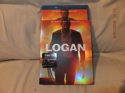 Logan Blu-ray/DVD, 2017, Includes Digital Code New Noir edition 3 disc set