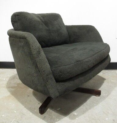 MILO BAUGHMAN THAYER COGGIN 1960s SWIVEL TUB CHAIR mid century barrel lounge