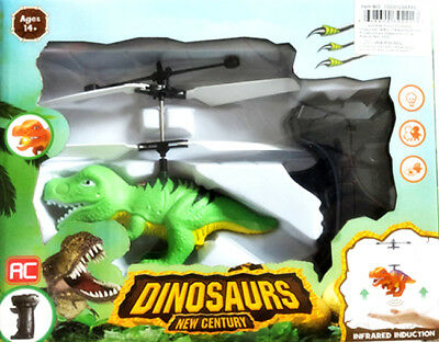 Hand Flying Dinosaur UFO T-Rex RC Helicopter Remote Control Hovering Floating