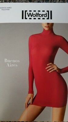 WOLFORD BUENOS AIRES PULLOVER, Lipstick Color, Size M, New in Never Opened Box