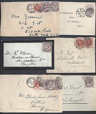 UK GB SCOTLAND 1880's 1890's COLLECTION OF SIX COVERS W/ DIFFERENT TOWN CANCELS