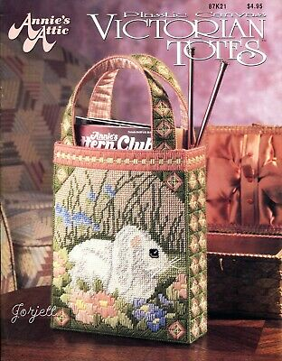 Victorian Totes ~ 7 Totebags & Accessories, Annie's plastic canvas patterns